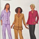 Butterick 3207 SEWING Pattern Womens Shirt, Capris, Pants Plus szs 28W,30W,32W