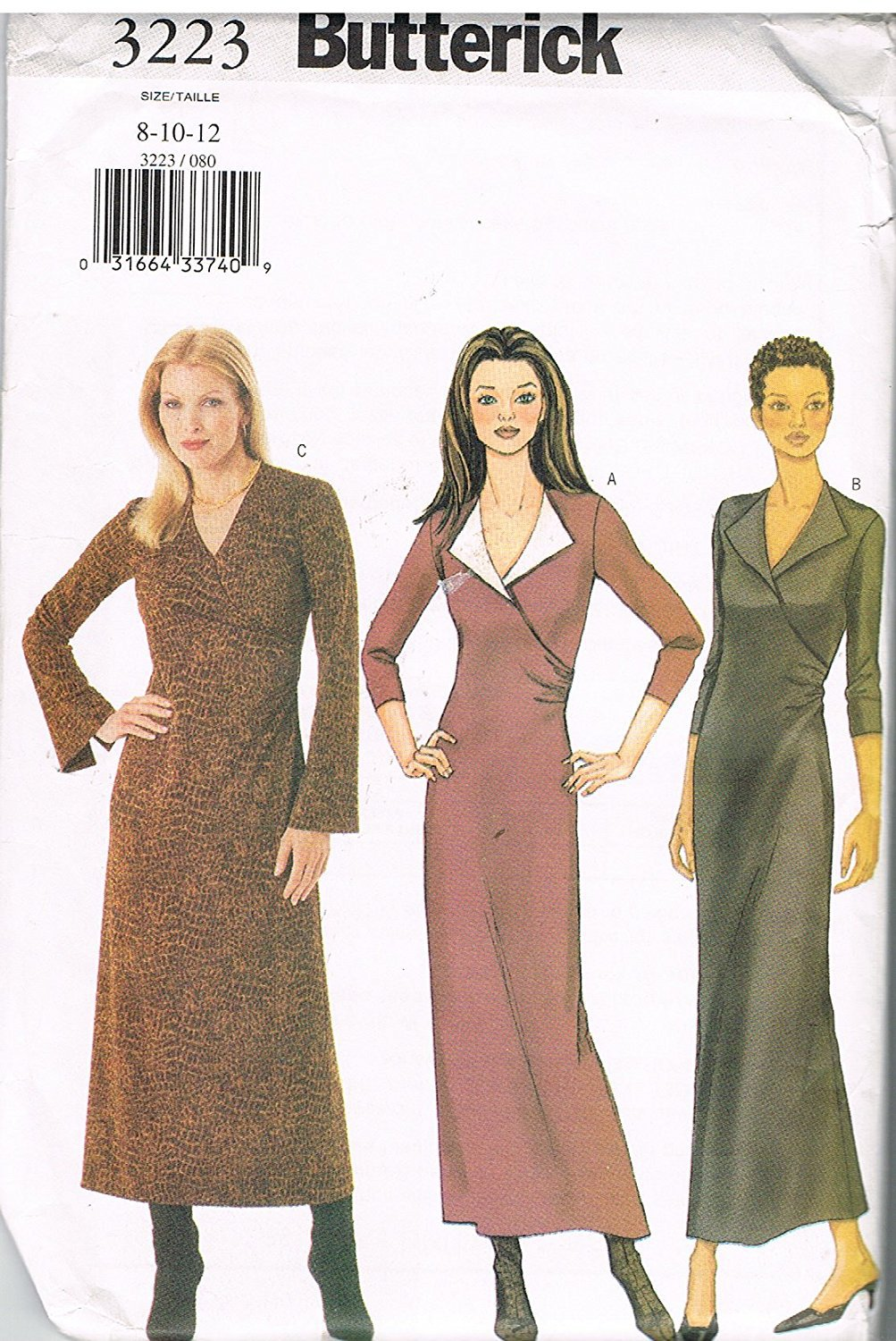 Butterick 3223 Easy A-Line Dress Size 14,16,18
