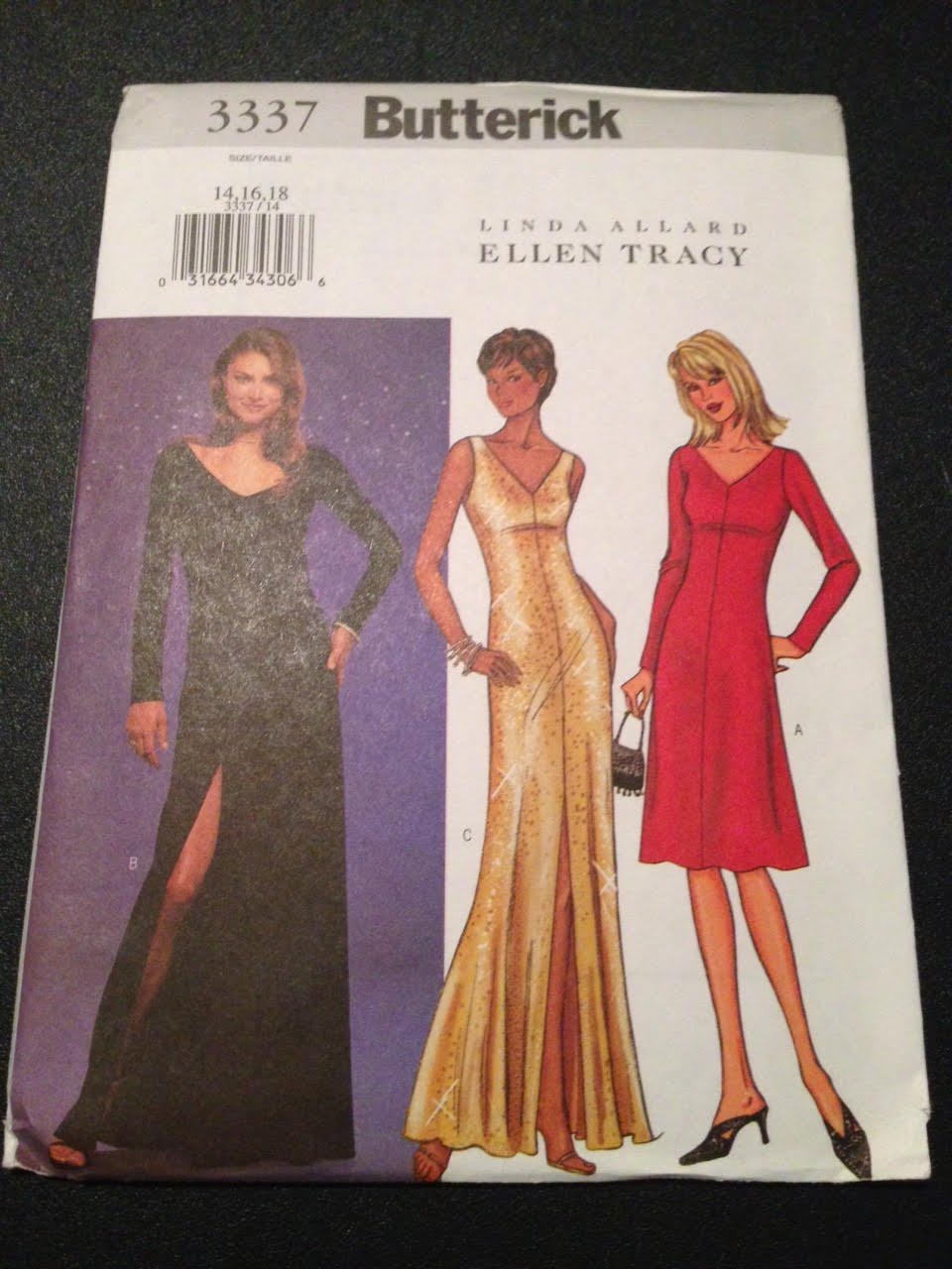 Butterick 3337 Sewing Pattern, Misses' Petite Dress, Size 14,16,18