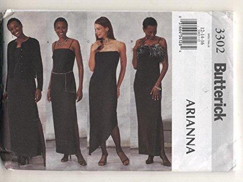 Butterick 3302 Arianna Formal Evening Wear Sewing Pattern Size 18,20,22