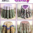 Simplicity Design Your Own Easy Table Covers Sewing Pattern # 9251