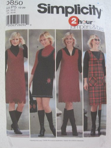 More buying choices for Simplicity Pattern 5850 Misses' Pullover Jumpers and Bag Sizes 4,6,8,10