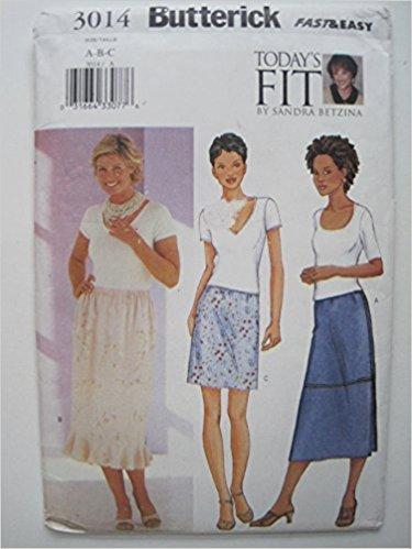 Butterick Pattern 3014 Misses'/Misses' Petite Skirt Sizes D,E,F
