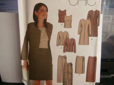 Simplicity Sewing Pattern 9327 Woman's Top Jacket Skirt Pants 14 16 18 20