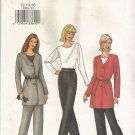 Butterick 3203 Long Sleeve Jacket Top Pants Pattern Misses Size 6,8,10