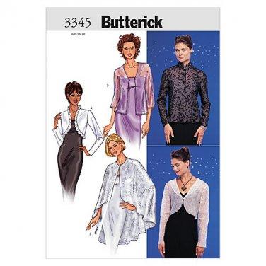 Butterick Patterns B3345 Misses' Jacket & Cape, Size 12-14-16