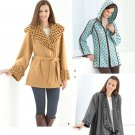 Simplicity Pattern 2208 Misses Fleece Jackets, Sizes XS-S-M-L-XL