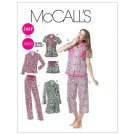 McCall's M6249 Misses Pajamas,Nightshirt Size EE 14-20
