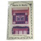 Hearthsewn Harts & Holly Wall Quilt Hanging 32 x 41 Inches