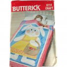 Butterick 6114 Sewing Pattern Crib Quilt and Bunny Toy Size one