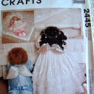 """LITTLE ANGELS 22"""" & 24"""" DESIGNED BY FAYE WINE MCCALLS CRAFTS SEWING PATTERN 2445"""