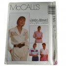 McCall's 7558  Nancy Zieman Misses Blouses Size C 10,12,14