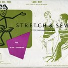 Stretch & Sew Pattern 1100 ~ Tank Top ~ Bust/Chest 28-46