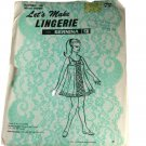 Let's Make Lingerie with Bernina 330 Sewing Pattern Misses Gown Size S,M,L