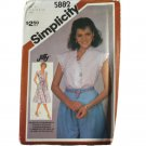 Simplicity 5882 Sewing Pattern Misses Jiffy Pullover Dress or Top Size W 20,22,24