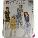 McCall's 7065 Sewing Pattern Children Girls Lined Vest,Top, Pants and Shorts Size CH 7,8,10