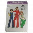 Simplicity 8122 Sewing Pattern Girls Jiffy Pullover Top and Pants Size 7,8