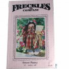 "Freckles & Company Sewing Pattern 119 Sweet Pansy 15"" Doll"