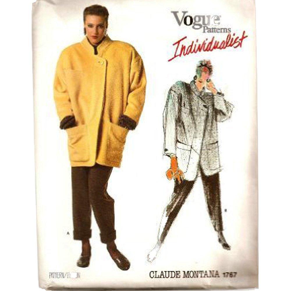 Vogue pattern 1767 (size 10) Misses Jacket & Pants Claude Montana