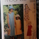 McCall's Pattern 3117 Size CH (7-8-10) - Children's And Girls' Dress