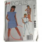 McCall's 9498 Sewing Pattern Girls Jumpsuit or Dress Size B 7,8,10