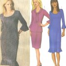 Butterick 3189 Misses Knit Pullover Top Dress Straight Skirt Sewing Pattern Size 12,14,16