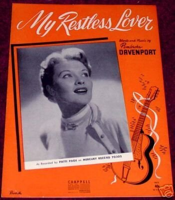 My Restless Lover, Patti Page 1954