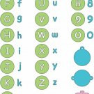 Cuttlebug Alphabet Die Set - Baby Face