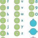 Cuttlebug Alphabet Die Set - Baby Face