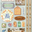 Cardstock Stickers - Baseball