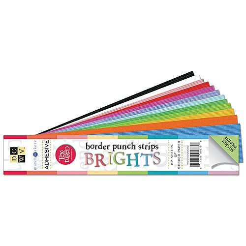 Adhesive Backed 2x12 Cardstock - Brights