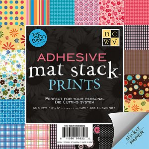 Adhesive Backed 6x6 Cardstock - Prints