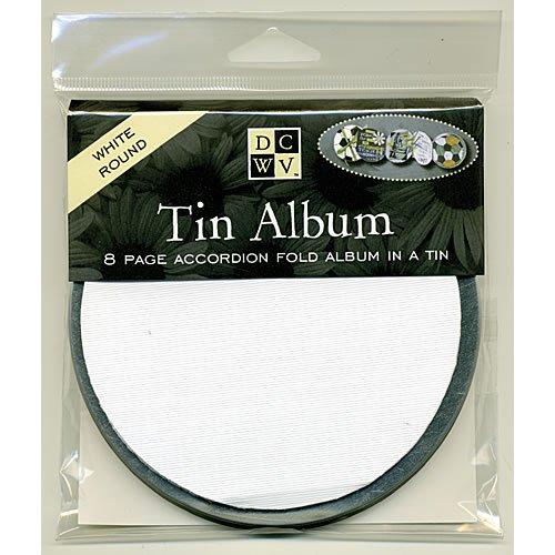 Round White Tin Album