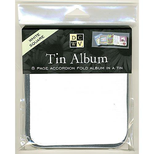 Square White Tin Album