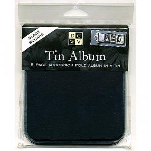 Square Black Tin Album