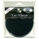 Round Black Tin Album