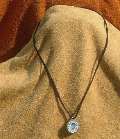 Blue Flower Leather