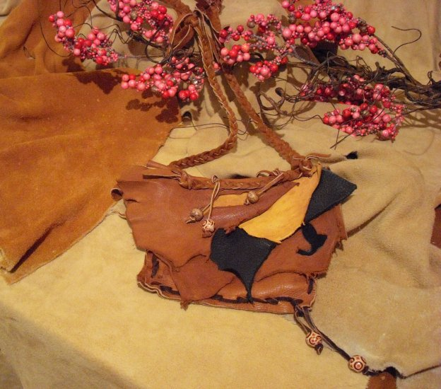 SOLD       Handcrafted Leather Mini Purse