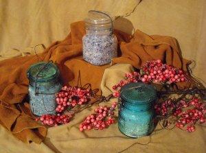 SOLD OUT -- Baby Powder Bath Salts -Antique Jar