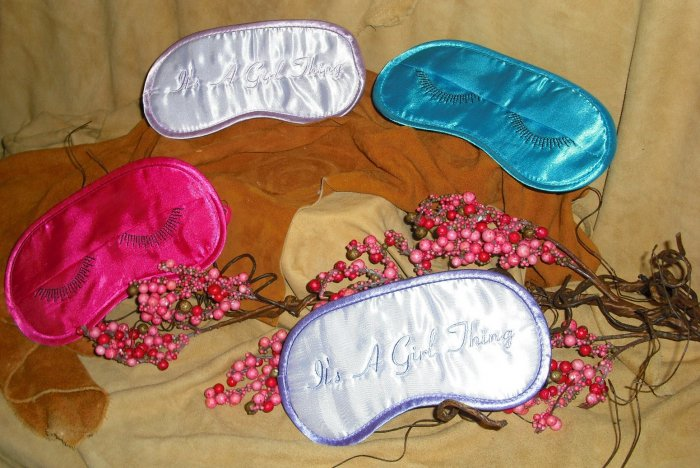 """It's A Girl Thing"" Pink Eye Mask"
