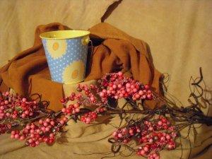 SOLD  Honeysuckle Bucket Candle