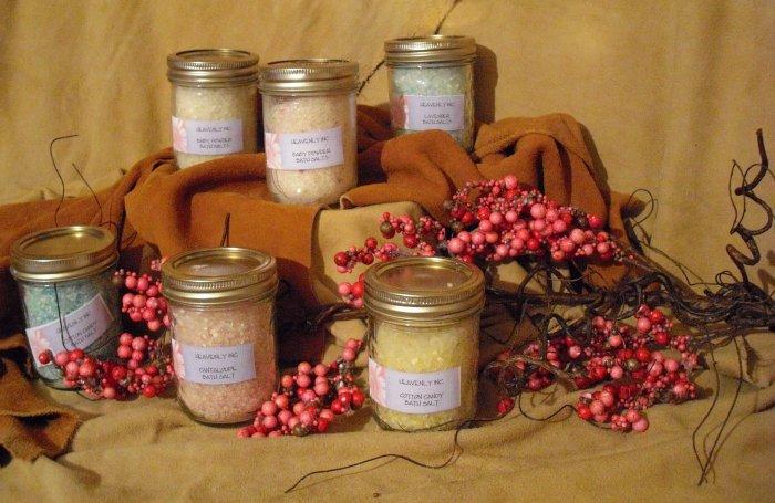 SOLD Baby Powder Bath Salts Jelly Jar -- SOLD
