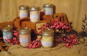 SOLD  Cantaloupe Bath Salts Jelly Jar -- SOLD