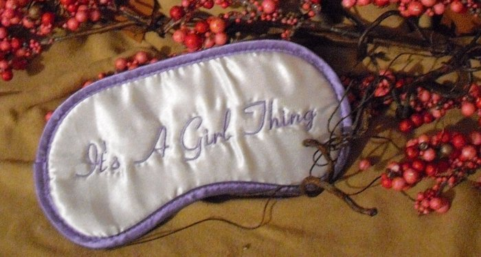 """It's A Girl Thing"" Purple Eye Mask"