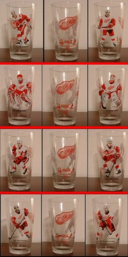 2002 DETROIT RED WINGS 4 DIFFERENT ARBY'S GLASSES