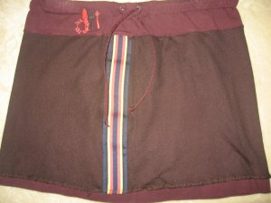 diesel  PLUM ATHLETIC NET STRETCH MINI SKIRT SZ 5 GR8