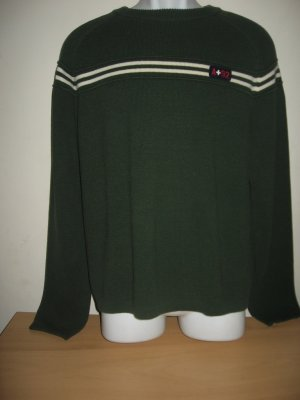 ABERCROMBIE MENS GREEN LOGO CREW SWEATER M