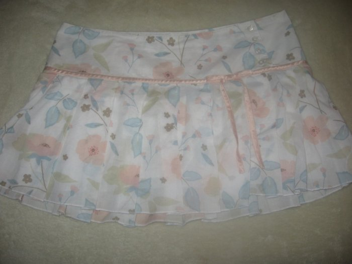 ABERCROMBIE CUTE PLEATED FLORAL PRINT MINI SKIRT SZ 8