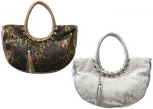 "Vianova ""Caterina"" Handbag 84383 : Bronze"
