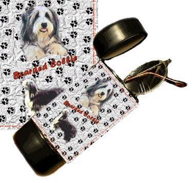 Bearded Collie Eyeglass Or Sunglass Case